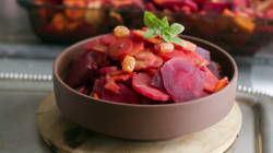 Rosh Hashanah Recipe For Tsimmes With Carrot, Parsnip, Beet And Sweet