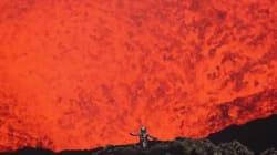 Vous n'aurez jamais vu un volcan d'aussi près...