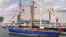 Les Grands voiliers accostent au port de Québec