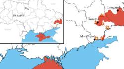Les frontières temporaires de l'Ukraine après le