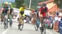 Sympa l'ambiance entre coureurs sur le Tour