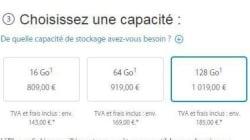 Tous les prix des iPhones 6 (dont un à plus de 1000