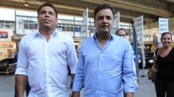 Ronaldo Fenômeno tenta ajudar o amigo Aécio a conquistar eleitores