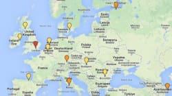 La carte des villes de