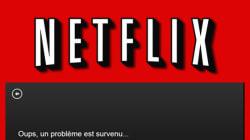 Première panne pour Netflix (pour son 1er dimanche