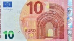 La nuova banconota da 10 euro col nuomero verde