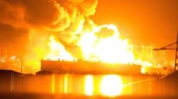 Incendio nella raffineria, paura a Milazzo (FOTO,