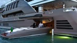 L'entreprise CRN crée le premier yacht avec... garage