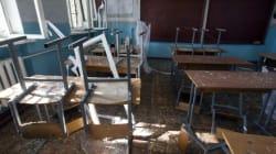 Bomba sul primo giorno di scuola a Donetsk