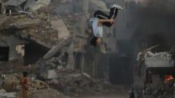 Parkour tra le macerie di Gaza