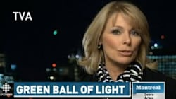 Mysterious Light Streaks Through Reporter's