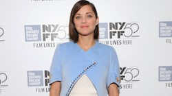 Marion Cotillard Rocks Dior Cape, Bermuda Shorts At Film