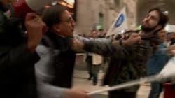 Al Corteo anti-clandestini, Romano La Russa colpisce un