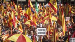 Des milliers de Catalans manifestent contre l'indépendance