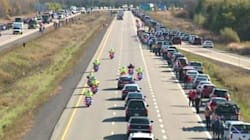 In Pictures: Canada Honours A Fallen Son On The Highway Of