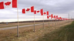 Beautiful Flag Tribute Remembers Canada's