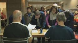 Les cols bleus de Québec votent pour le «grand