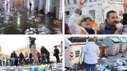Livorno, spazzini in sciopero: strade nel caos e tensione davanti al Comune