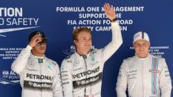 Grand Prix des États-Unis: Rosberg et Hamilton en première ligne