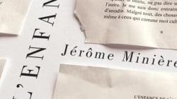 «L'enfance de l'art»: Un premier roman pour Jérôme Minière
