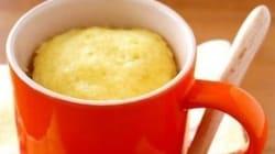 慌ただしい日の朝ごはんに、電子レンジで作る「マグカップケーキ」