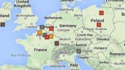 La carte des grandes batailles de la Première Guerre