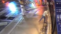 Man Smashes Head Through Bike Shop