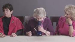 VIDÉO - Trois mamies américaines fument de l'herbe pour la première