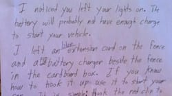 Kind Stranger Teaches Alberta Student Not To Leave His Lights