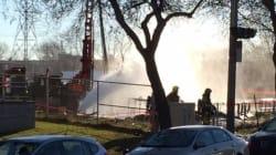 Les pompiers cherchent une solution contre une fuite de gaz à