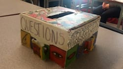 Cardboard Question Box Beats Google Search Box Any