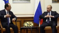 Rencontre impromptue entre Hollande et Poutine à