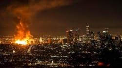 Les impressionnantes images des deux incendies géants à Los