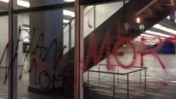 Vandalisme et manifestation au Palais des congrès de