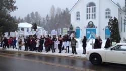 Mobilisation contre un projet d'Hydro-Québec dans les