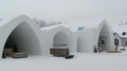 Hôtel de glace de Québec : les travaux vont bon train