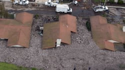 Des dizaines de maisons englouties après une tempête en