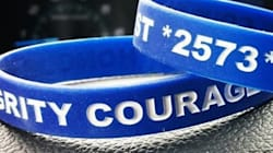 Promos For Bracelets Supporting B.C. Officer Charged With Murder
