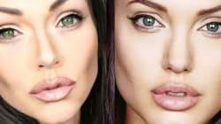 Vuoi sembrare Angelina Jolie? Basta un po' di trucco!