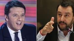 Renzi 1 è l'isola che non c'è, mentre Salvini 1 bussa alla