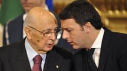 Il vecchio Napolitano e il giovane Renzi, accomunati dalla stessa