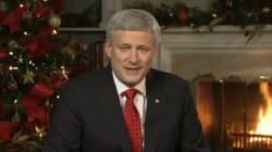 Harper transmet ses voeux de Noël