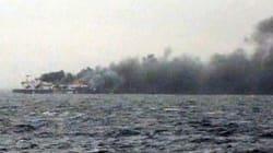 Titanesque opération de sauvetage d'un ferry en flammes au large de la
