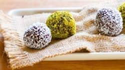 Vite fait bien fait: Truffes au chocolat, poudre de pistaches et de noix de