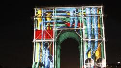 L'Arc de Triomphe transformé lors du passage à