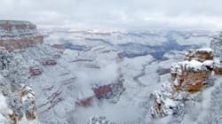 Photos Of The Grand Canyon Buried In Snow Are Simply