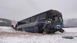 Greyhound Bus Crashes In