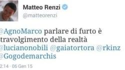 Dal profilo di Renzi un tweet fantasma sul goal
