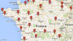 La carte des rassemblements en soutien à