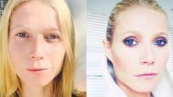 Gwyneth Paltrow sin maquillaje: el antes y